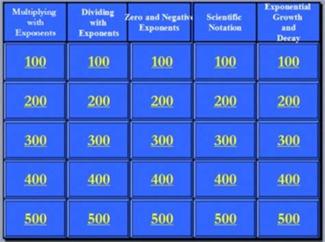rules  exponents jeopardy game  sarah price tpt