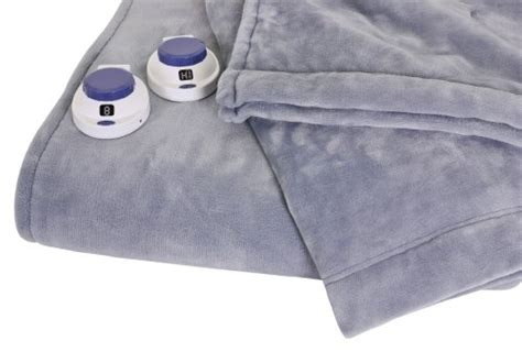 Softheat Luxurious Macromink Fleece Low-voltage Electric Heated Blanket, Queen Size, Blue Home Blanket For Baby Pictures Plaid Throw Canada Electric Hot Water Heater Insulation Double Layer Braided Fleece Tutorial Sunbeam Heated Crochet Super Bulky Yarn Patterns Blocks