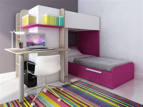 lit superpose avec bureau lits superposés samuel 2x90x190cm 3 coloris option matelas