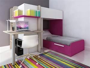 Lit Enfant Double : lits superpos s samuel 2x90x190cm 3 coloris option matelas ~ Teatrodelosmanantiales.com Idées de Décoration