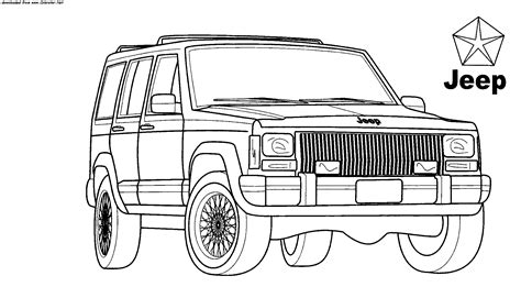 jeep cherokee coloring pages coloring page