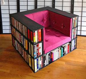 Library, Chair, A, Reading, Chair, That, Doubles, As, A, Bookcase