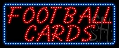 Led Football Cards Sign Animated Neon Signs