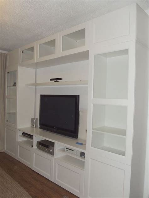 built in wall units ikea ikea besta for the look of built ins home office design and decor pinterest