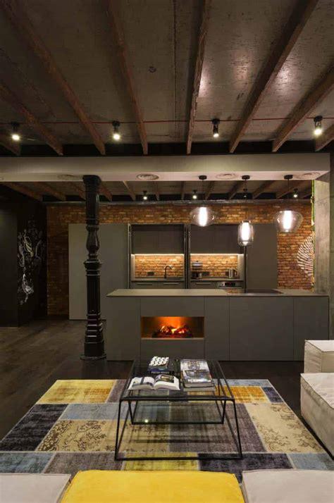Industrial Loft Apartment In Kiev by Industrial Style Loft In Kiev Artfully Blends Drama And Light