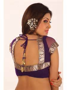 saree blouse designs fashions updated blouse neck designs for net sarees