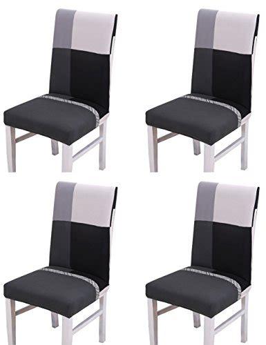 housse de chaise hauteur dossier 60 cm housse de chaise pour chaises de salle à manger 4 pièces