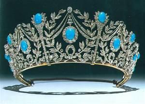 Persian Turquoise Diamond & Platinum Tiara of Princess ...