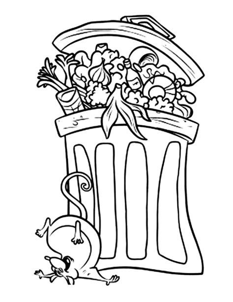 poubelle de cuisine la poubelle de ratatouille est un coloriage de ratatouille
