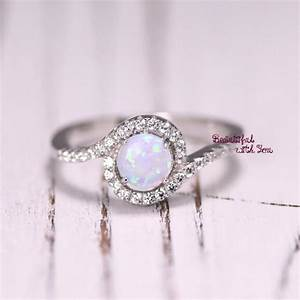 silver lab opal ring white opal ring opal wedding band With promise engagement wedding ring