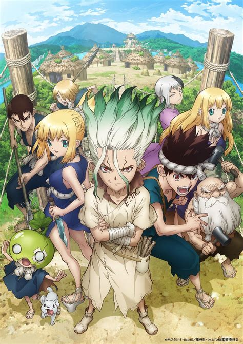 dr stone anime unveils  visual  cast members