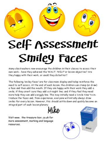 assessment afl smiley face posters