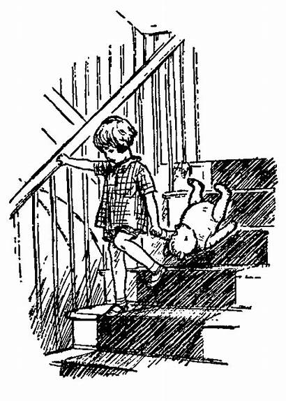 Coloring Pages Pooh Kanga Roo Stairs Down