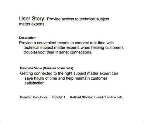 user story templates  excel