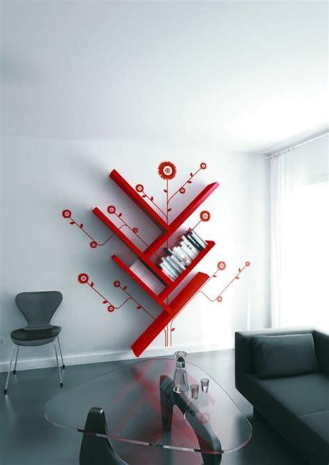 bureau avec etageres un rangement original en forme d 39 arbre pour le salon