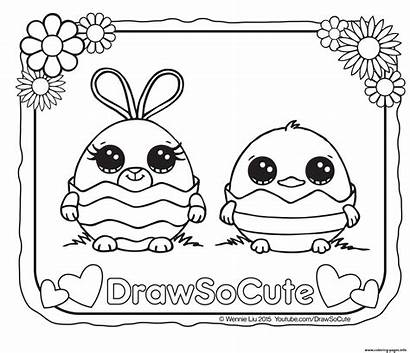Coloring Draw Easter Pages Printable Eggs Cutest
