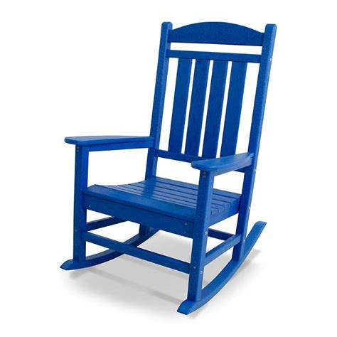 in stock pacific blue rocker recycled plastic polywood