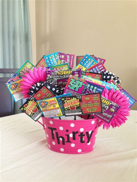 present birthday ideas birthdays 17 best images about lottery ticket bouquets on Great