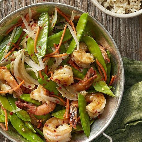 You can measure and organize all the healthy cooking healthy snacks healthy eating healthy dinners diabetic snacks. Shrimp and Pea Pod Stir-Fry   Recipe in 2020   Meals, Diabetic meal plan, Stir fry