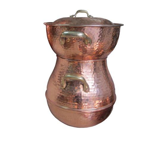 ustensile de cuisine en cuivre couscoussier en cuivre