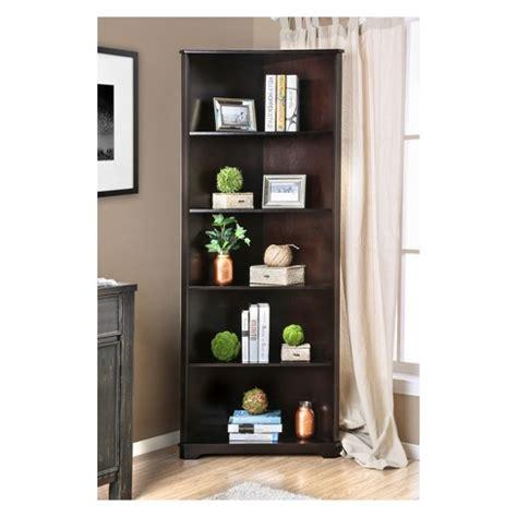 """78"""" Iohomes Mcafee Contemporary 5 Tier Corner Bookshelf"""