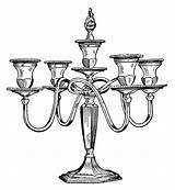 Candle Clip Clipart Holder Antique Candelabra Candles Drawing Illustration Victorian Printable Stand Cliparts Holders Olddesignshop Graphics Illustrations Library Chair Printables sketch template
