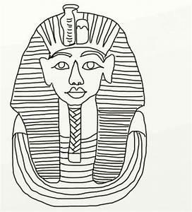 King tut coloring pages coloring home for King tut mask template