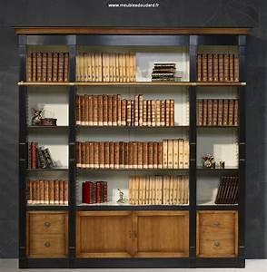 Meuble Bibliothèque Bois : meuble biblioth que biblioth que merisier biblioth que directoire en bois massif ~ Teatrodelosmanantiales.com Idées de Décoration