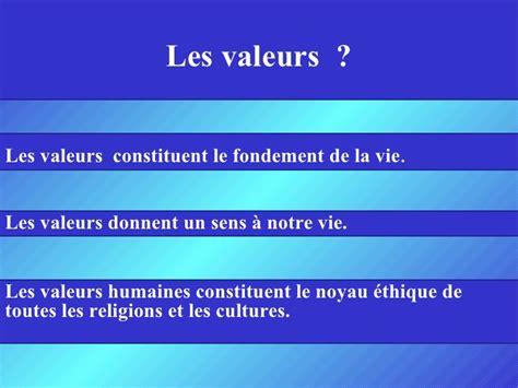 education sur les valeurs