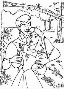 Princess Aurora And Prince Phillip Sing Together Coloring