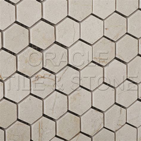 oracle tile and ebay crema marfil marble polished 1 hexagon mosaic tile ebay