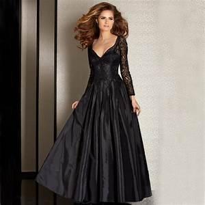 Aliexpress.com : Buy Elegant Black Evening Dresses 2017 V ...