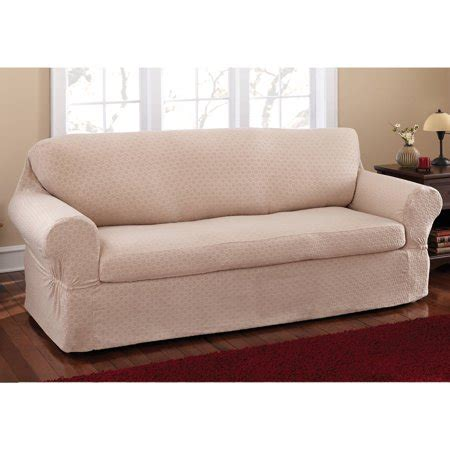 Loveseat Cover Walmart by Mainstays Conrad 2 Sofa Slipcover Walmart