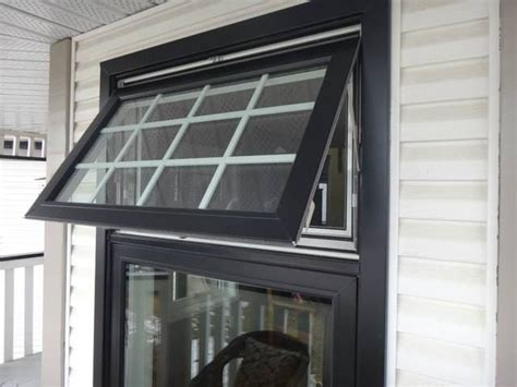 awning window black exterior window frame black capping