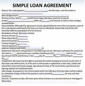Sample loan agreement 10 free documents in pdf word for Personal loan document free