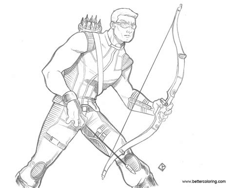 hawkeye coloring pages by domeddi free printable