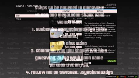 ,000,000 Megalodon Shark Card Giveaway