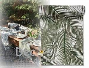 Chemin De Table Design : chemin table feuille palmier dc 4239 ~ Teatrodelosmanantiales.com Idées de Décoration