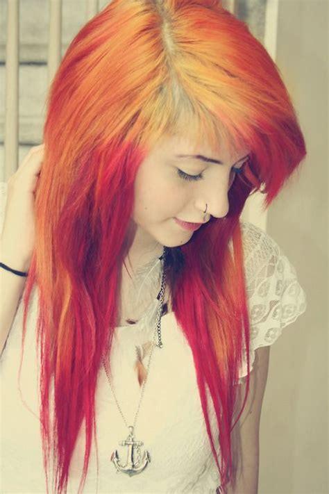 Orange Emo Hair ஜ Hair Swag ஜ Pinterest Red