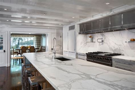 statuary countertops transitional kitchen vincent