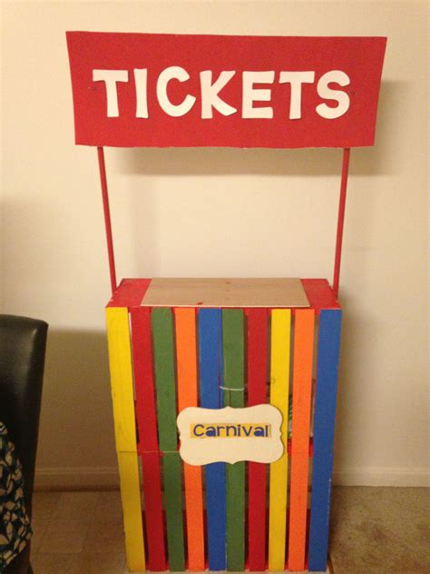 carnival ticket booth diy circus party decorations