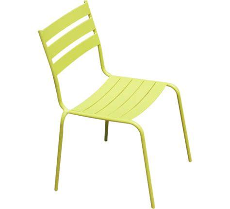 chaise de jardin verte chaise de jardin acier