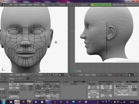 Blender head modeling tutorial part 1 - YouTube
