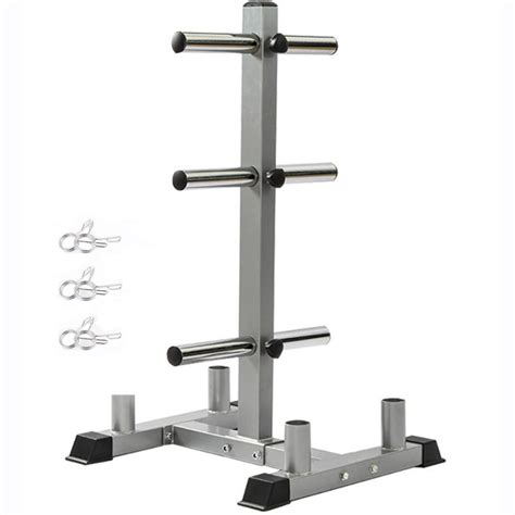 olympic weight plate rack   plates vertical bar holder  home gym walmartcom