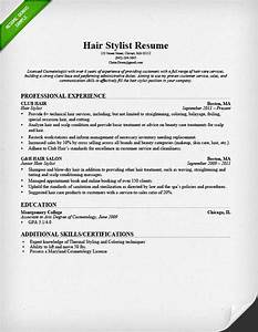 hair stylist resume sample writing guide rg With hair stylist resume template