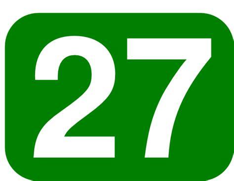 Number 27 Clip Art At Clker.com