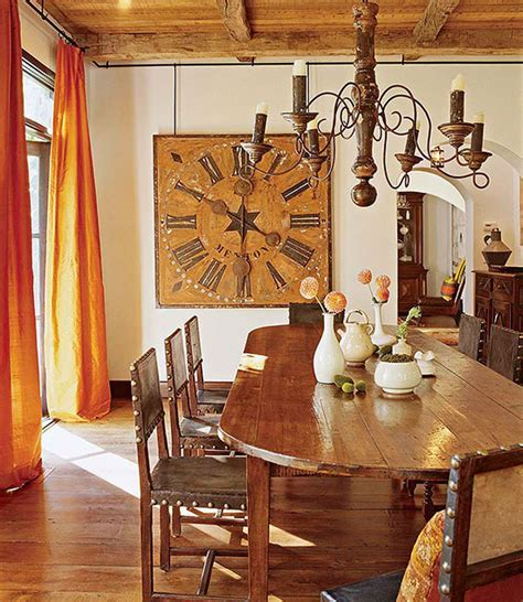 large square rustic clock  dining room time