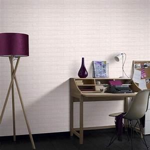 Graham & Brown 56 sq. ft. Brick Paintable White Wallpaper ...