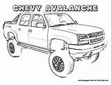 Coloring Truck Chevy Sheets Boys Printable Cars Avalanche Sheet Chevrolet Trucks Pickup Colouring Monster Adult Printables Colors Jacked Pick Bestofcoloring sketch template
