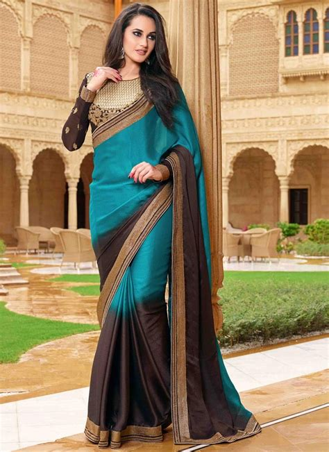Woven design kanjeevaram coffee brown saree. Titillating Jacquard Coffee Brown Color Party Wear Saree